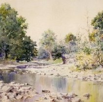 Image of Painting - Elkhorn Creek Scene